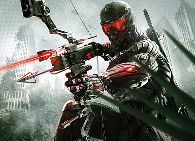 video games, guns, arrows, bow (weapon), Crysis 3, lasers - random desktop wallpaper