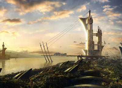 landscapes, fantasy art, science fiction - related desktop wallpaper