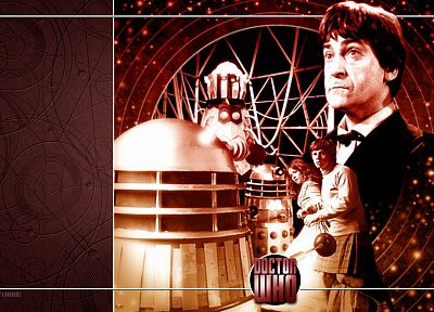 Dalek, Doctor Who, Patrick Troughton, Second Doctor - desktop wallpaper