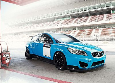 cars, Volvo C30, wtcc, racing cars, Polestar - random desktop wallpaper
