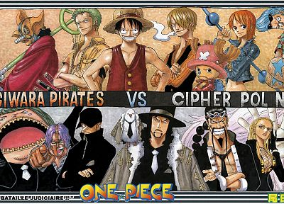Robin, One Piece (anime), Roronoa Zoro, chopper, Franky (One Piece), Monkey D Luffy, Cipher Pol, Nami (One Piece), Usopp, Sanji (One Piece) - related desktop wallpaper
