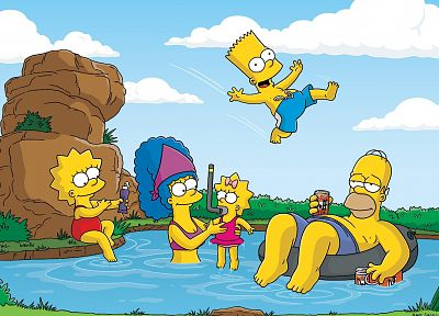 Homer Simpson, The Simpsons, Bart Simpson, Lisa Simpson, Marge Simpson, Maggie Simpson, Duff Beer - desktop wallpaper