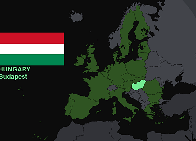 Hungary, flags, Europe, maps, knowledge, countries, useful - related desktop wallpaper