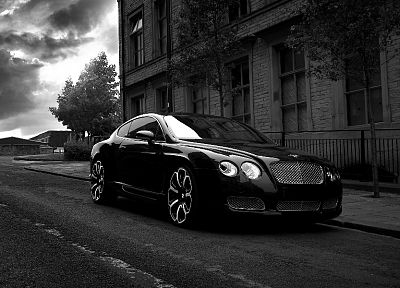 cars, grayscale, Bentley, monochrome - desktop wallpaper