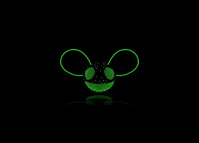 Deadmau5, house music, black background - desktop wallpaper