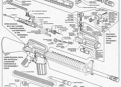 rifles, guns, weapons, prototypes, schematic, M-16 - related desktop wallpaper