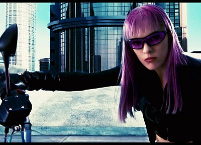 women, actress, purple hair, pink hair, Milla Jovovich - related desktop wallpaper
