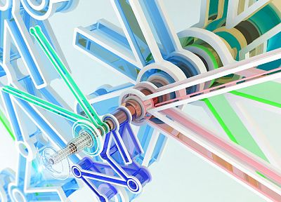 abstract, CGI, gears, chromatic, K3 Studio - desktop wallpaper