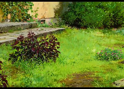 garden, stairways, plants, Studio Ghibli, Karigurashi no Arrietty, The Secret World of Arrietty - desktop wallpaper