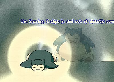 Pokemon, text, Snorlax - desktop wallpaper