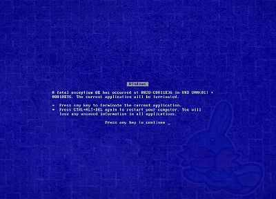 Blue Screen of Death - duplicate desktop wallpaper