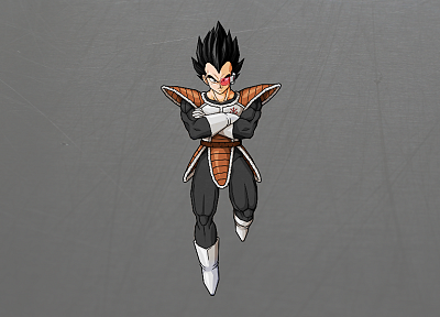Vegeta, Dragon Ball Z, simple background - desktop wallpaper