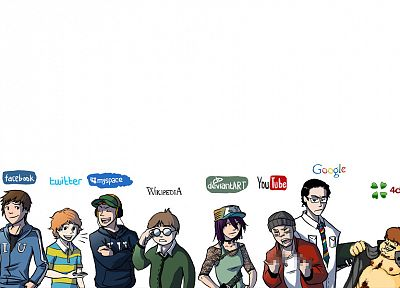 Facebook, Google, YouTube, Twitter, myspace, Wikipedia, DeviantART - related desktop wallpaper
