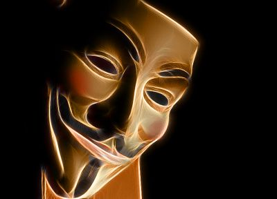 Fractalius, masks, Guy Fawkes, V for Vendetta - random desktop wallpaper