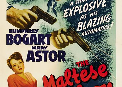 Humphrey Bogart, movie posters, The Maltese Falcon - related desktop wallpaper