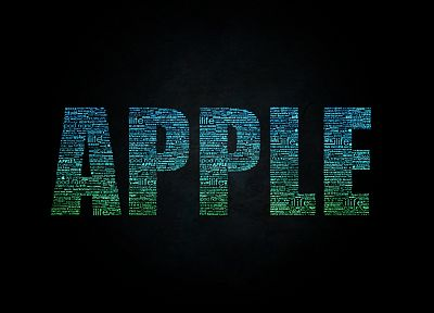 Apple Inc., typography, technology - desktop wallpaper