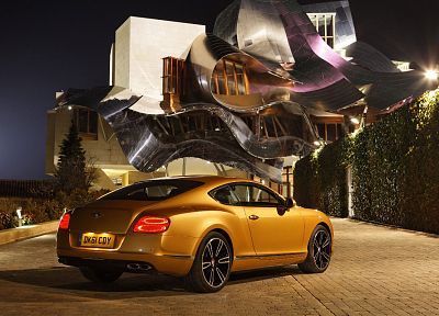gold, Bentley Continental GT - random desktop wallpaper