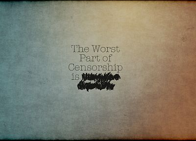 text, quotes, textures, irony, censored - related desktop wallpaper