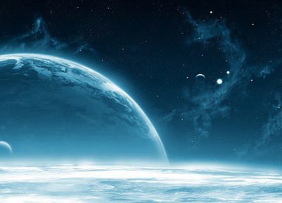 outer space, planets - desktop wallpaper