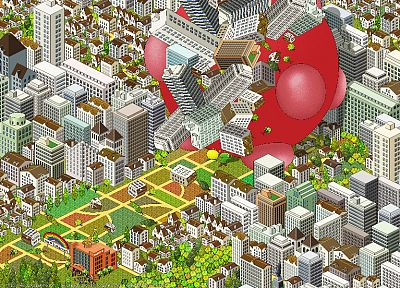 video games, Katamari, pixel art, artwork, Katamari Damacy - related desktop wallpaper