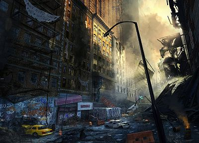 video games, fantasy art, Crysis 2 - random desktop wallpaper