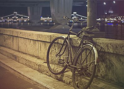 bicycles, bridges, urban, chains, Duna, chain bridge - random desktop wallpaper