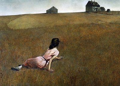 vintage, paint, Andrew Wyeth, Christina's World - random desktop wallpaper