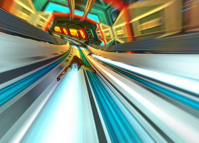 video games, futuristic, Wipeout, science fiction, Wipeout HD, fan art - desktop wallpaper