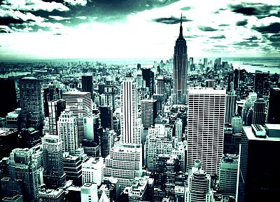cityscapes, skylines, architecture, buildings, New York City, skyscrapers - random desktop wallpaper
