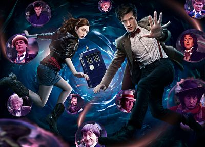 TARDIS, Matt Smith, Karen Gillan, Amy Pond, Eleventh Doctor, Paul McGann, Doctor Who - related desktop wallpaper