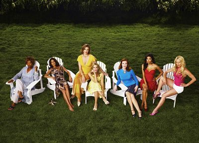 TV, women, Eva Longoria, Teri Hatcher, Felicity Huffman, Desperate Housewives, Marcia Cross, Gabrielle Solis, Bree Van De Camp, Lynette Scavo, Susan Mayer, Dana Delany, Nicollette Sheridan - desktop wallpaper