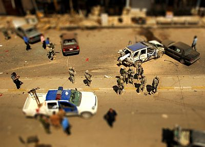 military, tilt-shift - desktop wallpaper