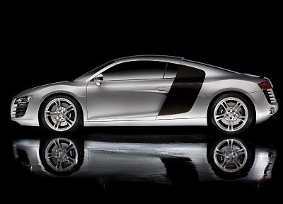 cars, Audi R8, reflections, black background - desktop wallpaper