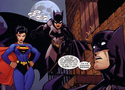 Batman, Goddamn Batman, DC Comics, funny, Batgirl, Supergirl - desktop wallpaper