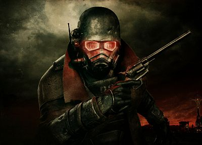 video games, Fallout, post-apocalyptic, helmet, masks, Fallout New Vegas - related desktop wallpaper
