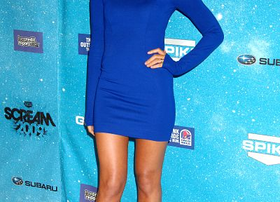 women, Olivia Munn, blue dress - related desktop wallpaper