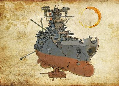 paper, guns, Japanese, cannons, vehicles, Rising Sun, Yamato, Space Battleship Yamato, battleships - related desktop wallpaper