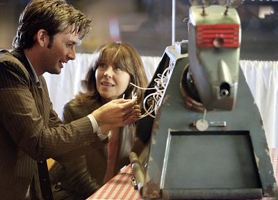 David Tennant, Doctor Who, Sarah Jane Smith, Tenth Doctor - desktop wallpaper