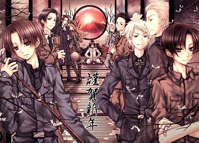 Japan, Germany, Austria, Hungary, Italy, Finland, anime, Prussia, Axis Powers Hetalia - random desktop wallpaper