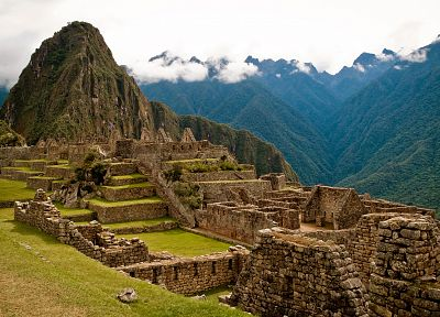 mountains, landscapes, ruins, architecture, Machu Picchu - desktop wallpaper