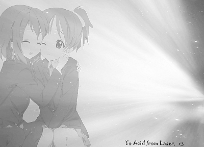 K-ON!, sketches, Hirasawa Yui, anime girls, Hirasawa Ui - desktop wallpaper