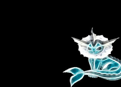 Pokemon, Vaporeon, simple background, black background - related desktop wallpaper