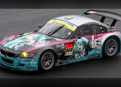 Vocaloid, Hatsune Miku, cars, BMW Z4 - random desktop wallpaper