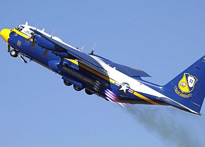 aircraft, C-130 Hercules, blue angels - desktop wallpaper