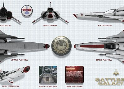 mark, Battlestar Galactica, viper, information, Viper Mark II - random desktop wallpaper