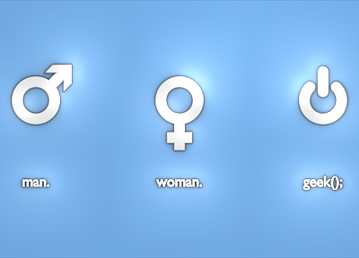 women, geek, symbol, men - desktop wallpaper