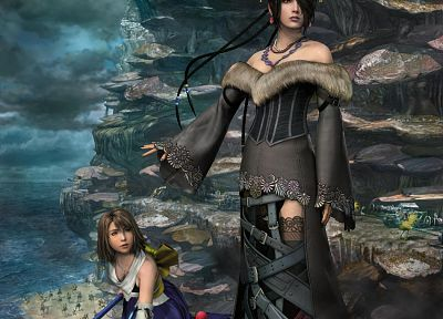 Final Fantasy, moogle, Yuna, Final Fantasy X, Lulu (Final Fantasy) - related desktop wallpaper