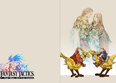 Final Fantasy, video games, Final Fantasy Tactics: The War of the Lions, Chocobo - related desktop wallpaper