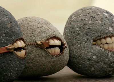rocks, funny, smiling - random desktop wallpaper