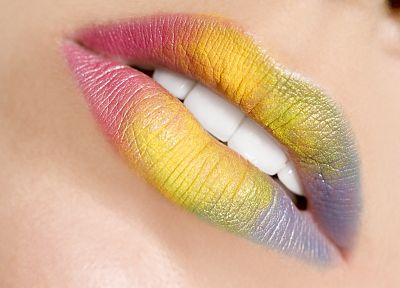 multicolor, lips - random desktop wallpaper